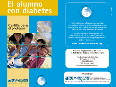El alumno con diabetes. Cartilla para el profesor.